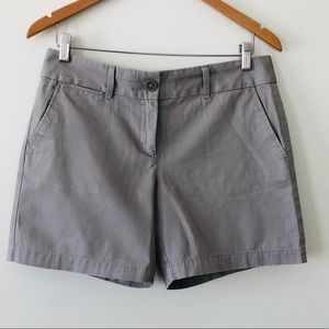 Ann Taylor Loft Chino Shorts Khaki Brown Cotton 4